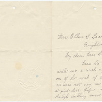 Letter from Leanna Campbell to Ellen Leckenby, ?/?/[1908], page 1
