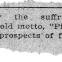 Page 052 : [news clipping: Suffragists Adopt Motto]
