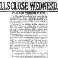 Page 123 : Polls Close Wednesday