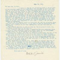 Letter from Edith Jarmuth to Emma Smith DeVoe, 7/31/1908, page 1
