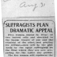 Page 121 : Suffragists Plan Dramatic Appeal