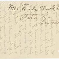 Letter from Freida Davidson to Emma Smith DeVoe, 7/31/1908, page 4
